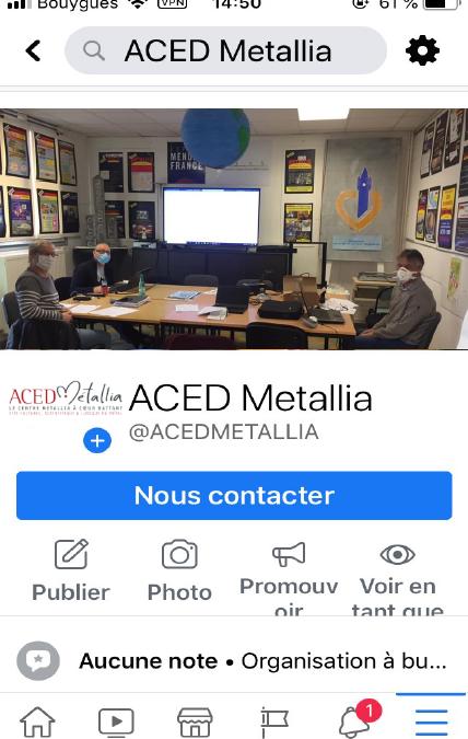 Aced Métallia sur les réseaux sociaux et le web